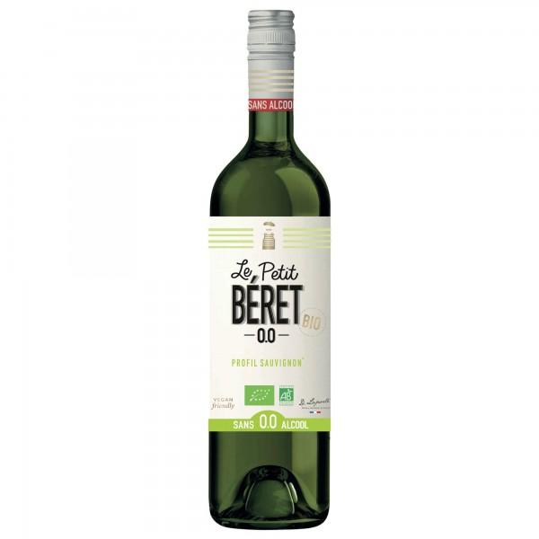 bouteille blanc boisson sans alcool le petit beret sauvignon